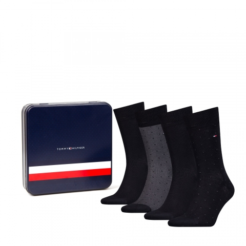 Pack 4 calcetines hombre, Tommy Hilfiger.